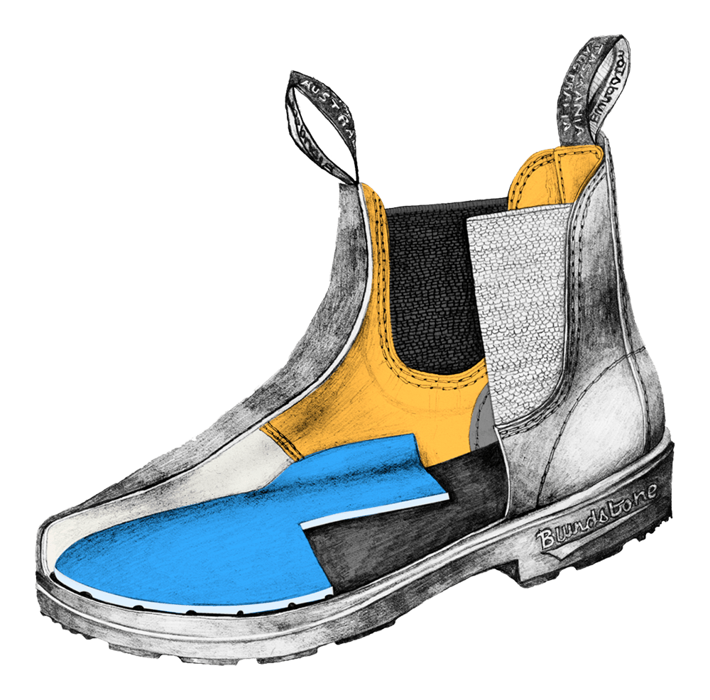 Drawing of a Blundstone Kids' series boot