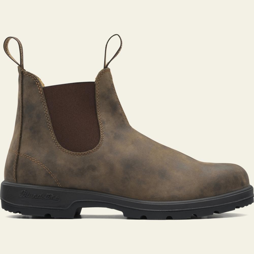 Blundstone Style 585 Rustic Brown Nubuck Leather Australian Chelsea Boots