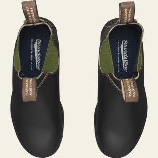Women's Style 519 pu-tpu-olive-elastic-sided-v-cut_519_F by Blundstone
